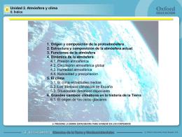 Unidad 2. Atmósfera y clima