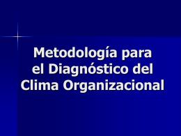 Metodología para el diagnóstico del Clima Organizacional
