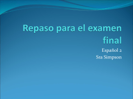 B - La clase de Español de Sra. Simpson