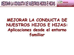 la conducta - APA Maristas El Salvador