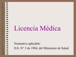 Licencia Medicas - Escuela Sindical