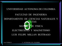 Fuentes de campo magnético - Universidad Autónoma de Colombia