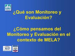 Objetivos del Monitoreo y Evaluación