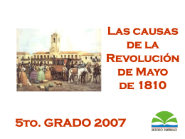 Revolución de Mayo - El portal del Instituto Platerillo