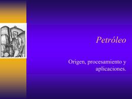 Presentación de petróleo