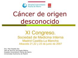 inmunohistoquímica en carcinomas de origen desconocido.