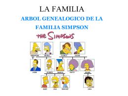 la familia arbol genealogico de la familia simpson - Senora-Dill