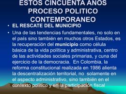 ESTOS CINCUENTA AÑOS PROCESO POLITICO