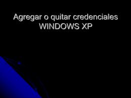 Agregar o quitar credenciales WINDOWS 7