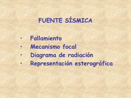Fuente sísmica: mecanismo focal, representación