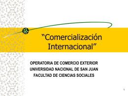 """""""Comercialización Internacional"""""""