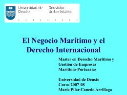 El Negocio Marítimo y el Derecho Internacional - Trans