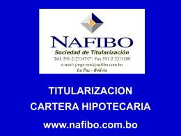 TITULARIZACION CARTERA HIPOTECARIA