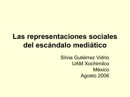 Las representaciones sociales del escándalo mediático