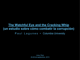 The Watchful Eye and the Cracking Whip (un estudio sobre cómo