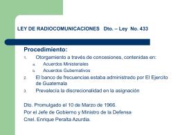 uso ilegal del espectro radioelectrico