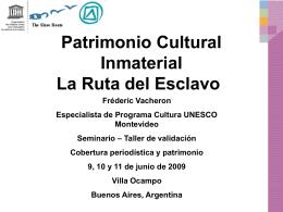 por Frédéric Vacheron - CATEDRA UNESCO de TURISMO