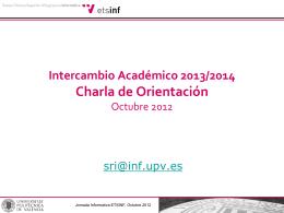 Sesión informativa pre-campaña Erasmus 2013-14
