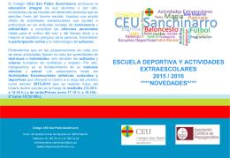 Escuela deportiva y Actividades extraescolares 2015-16