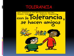 TOLERANCIA - Bienestar Institucional