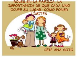 Los roles en la familia - Colegio Público Ana Soto