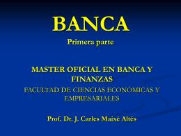 Prof. Dr. J. Carles Maixé Altés DATOS GENERALES