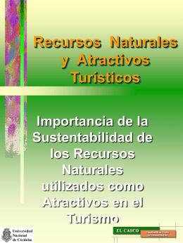 Recursos Naturales y Atracciones Turísticas