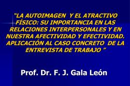 LA AUTOIMAGEN Y EL ATRACTIVO FýSICO IMPORTANCIA FGALA