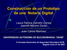 Construcción de una Notaria Digital