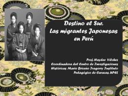 Destino el Sur-Las inmigrantes Japonesas en Perú