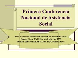 1933 1º Conferencia - Facultad de Trabajo Social