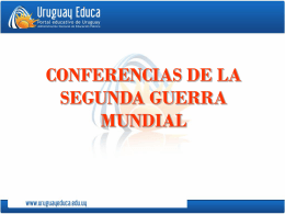 Conferencias 2da GM - Política Internacional Contemporánea