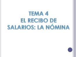 1. EL RECIBO DE SALARIOS