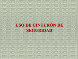 USO DE CINTURÓN DE SEGURIDAD