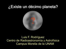 "Presentation Powerpoint ""?Existe un Decimo Planeta?"""