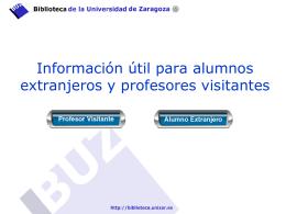 Profesores Visitantes y Alumnos Extranjeros
