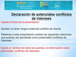 Diapositiva de conflicto de intereses