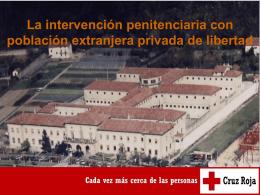 Intervención penitenciaria con población extranjera privada de