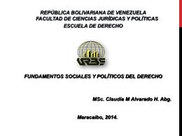 PRESENTACION CLASE DE FUND SOCIALES Y POLI DEL