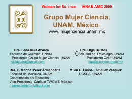 Dra. E. Martha Pérez Armendariz M. en C. Larisa