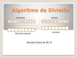 Algoritmo de División