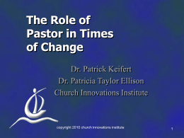 The Role of Pastor in Times of Change