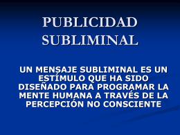 7. Publicidad subliminal