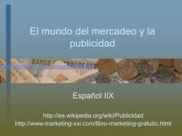 El mundo de la publicidad y el mercadeo