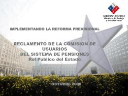 Presentación: Reglamento de la Comisión de Usuarios