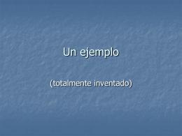 8 Un ejemplo de lenguaje