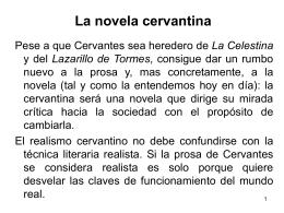 La novela cervantina - Lengua castellana y literatura