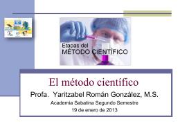 El método científico y sus aplicaciones