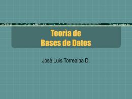 Unidad IV Teoria de bases de datos