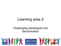 Slides – Learning area 2 - Equality and Human Rights Commission